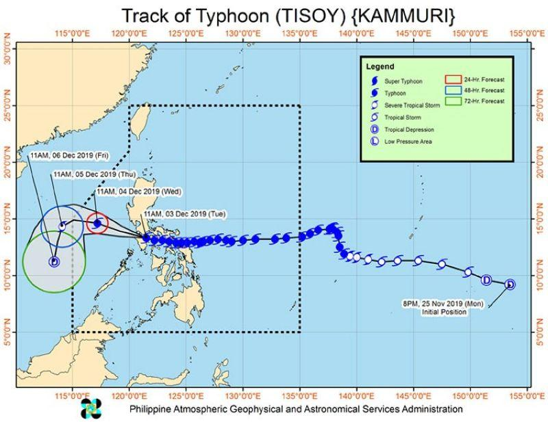 'Tisoy' further weakens after 3rd landfall