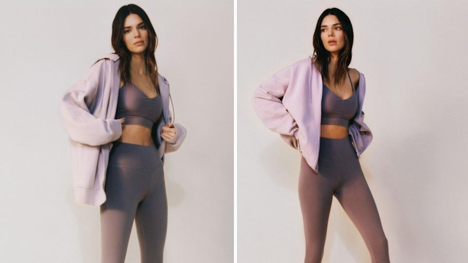 Kendall Jenner in Alo Yoga. (Images Courtesy of Alo Yoga/Photos by Daniel Regan)