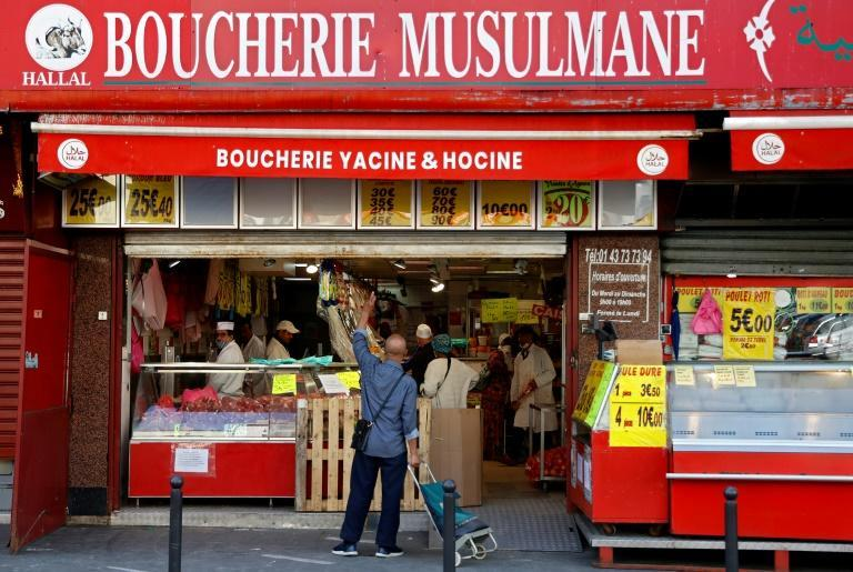 Une boucherie halal à Paris, le 24 avril 2020
