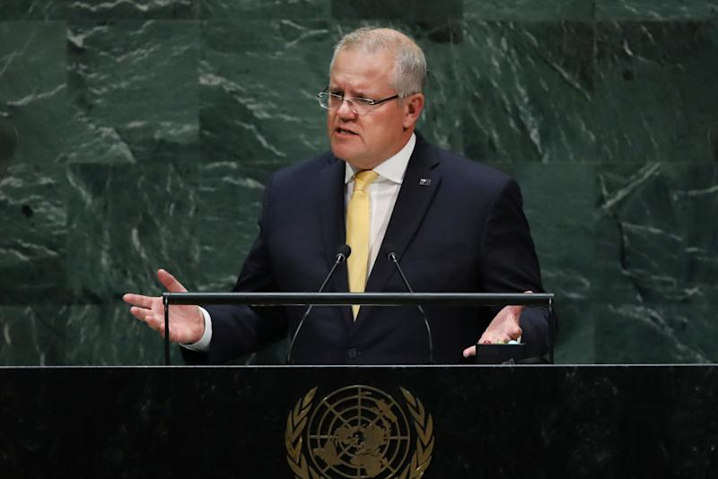 Scott Morrison says Australia doesn't need to choose between the US and China. Source: Getty