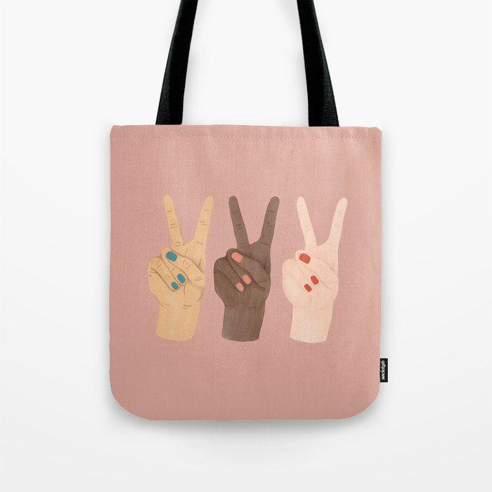 """<p><strong>Society6</strong></p><p>society6.com</p><p><strong>$22.49</strong></p><p><a href=""""https://go.redirectingat.com?id=74968X1596630&url=https%3A%2F%2Fsociety6.com%2Fproduct%2Fpeace-hands-pink_bag&sref=https%3A%2F%2Fwww.prevention.com%2Flife%2Fg35227742%2Fgalentines-day-gifts%2F"""" rel=""""nofollow noopener"""" target=""""_blank"""" data-ylk=""""slk:Shop Now"""" class=""""link rapid-noclick-resp"""">Shop Now</a></p><p>This tote will remind her that you're always sending peace, love, and positive vibes. It <strong>comes in three sizes</strong> and is strong enough to carry her laptop, groceries, and more.</p>"""