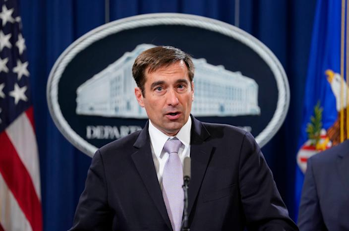 Assistant Attorney General for National Security John C. Demers, speaks during a news conference to announce a criminal law enforcement action involving China, at the Department of Justice in Washington, Thursday, Nov. 1, 2018.