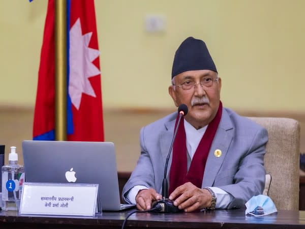 KP Sharma Oli, Prime Minister of the caretaker government in Nepal.