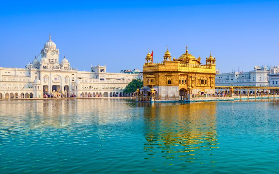 Golden Temple in Amritsar, Himalayas