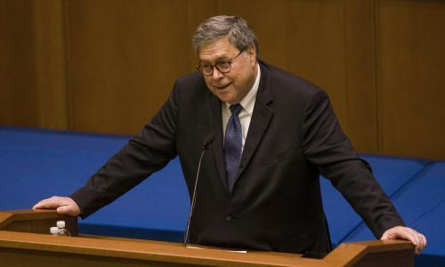 'A threat to democracy': William Barr's speech on religious freedom alarms liberal Catholics