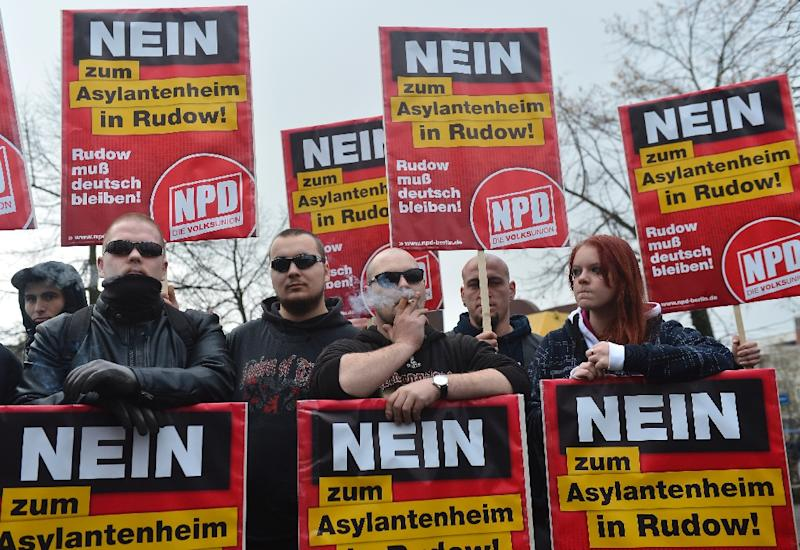 The neo-Nazi NPD was founded in 1964 and advocates 'Germany for the Germans' (AFP Photo/ODD ANDERSEN)