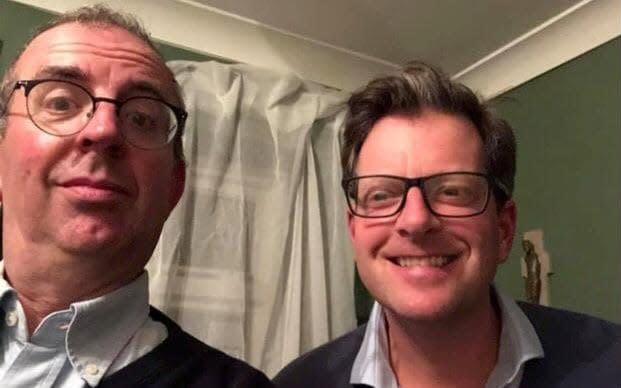 Rev Richard Coles and William Sitwell enjoy homestyle food in the parish - Richard Coles