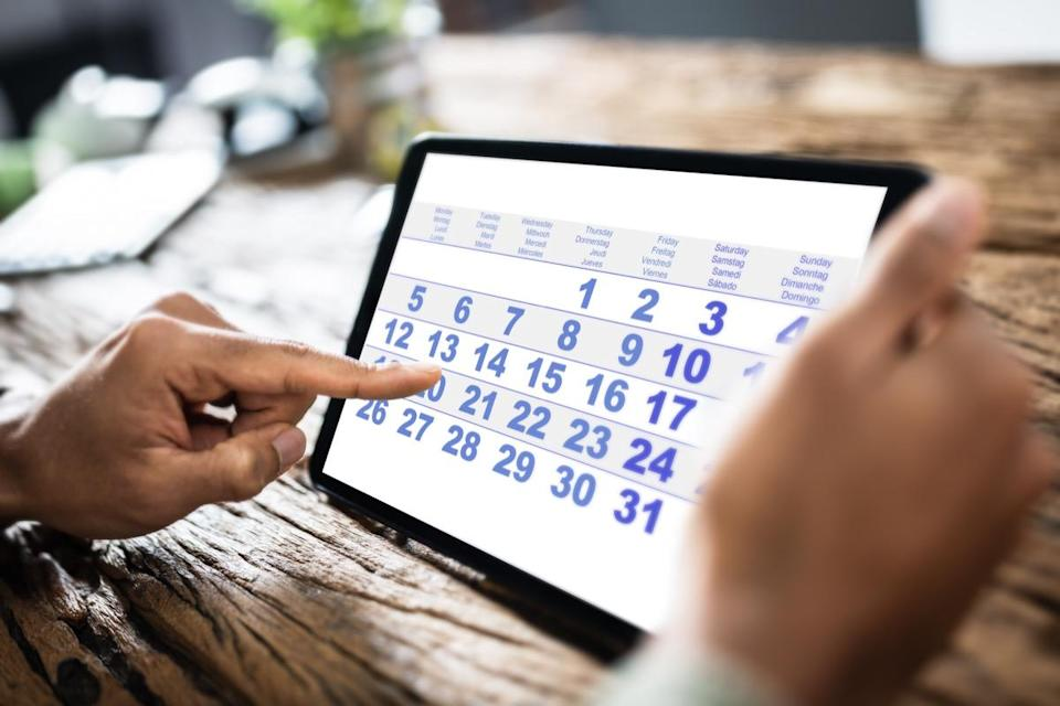 """If you find that you never seem to have time to clean your house, put it on your calendar and make it a standing event. """"Plan out your to-do list in sections of daily, weekly, and monthly chores to outline what needs to be done first,"""" suggests <strong>Leanne Stapf</strong>, chief operating officer at <a href=""""https://www.thecleaningauthority.com/"""" rel=""""nofollow noopener"""" target=""""_blank"""" data-ylk=""""slk:The Cleaning Authority"""" class=""""link rapid-noclick-resp"""">The Cleaning Authority</a>."""
