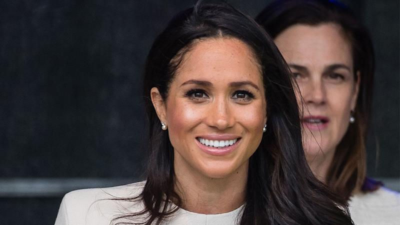 Meghan Markle Beams While Cheering on Prince Harry and Prince William at Charity Polo Match