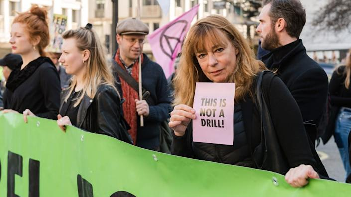 """<div class=""""inline-image__caption""""><p>Activists from Extinction Rebellion disrupted London Fashion Week in February 2019 by stopping traffic and creating gridlock between the event venues.</p></div> <div class=""""inline-image__credit"""">Barcroft Media/Getty</div>"""
