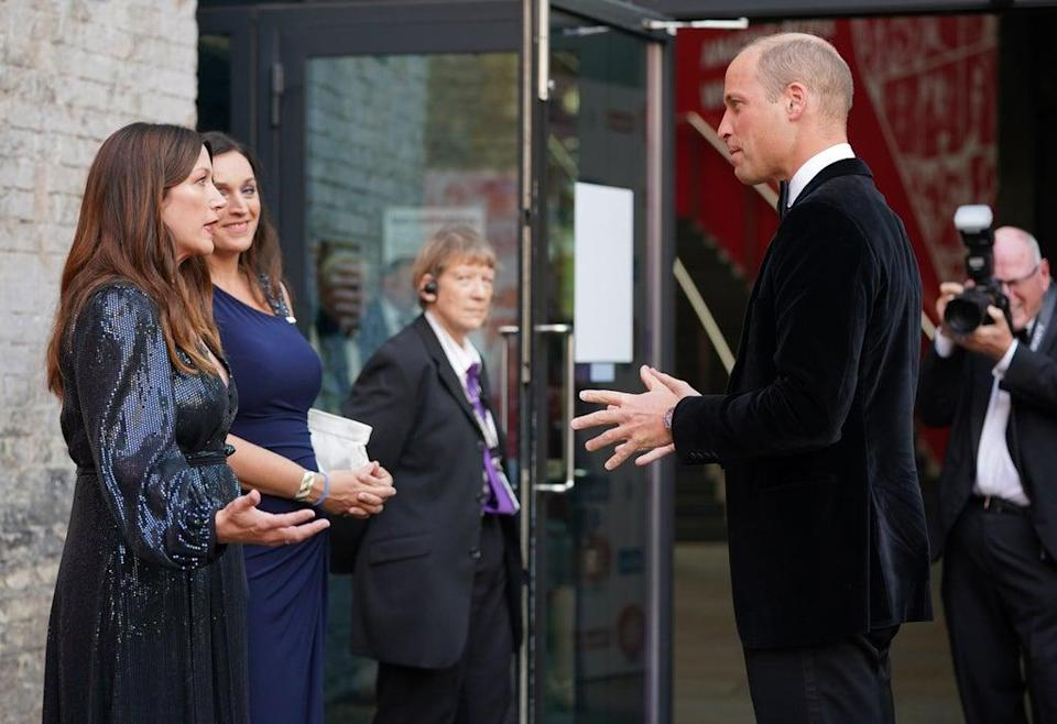 The Duke of Cambridge meets guests at the Who Cares Wins Awards (Yui Mok/PA) (PA Wire)