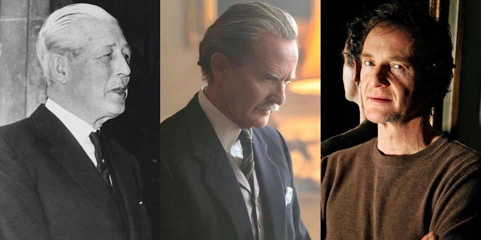 <p>The queen's third prime minister, Harold Macmillan, was played by <em>Game of Thrones</em> actor Anton Lesser in <em>The Crown</em>. You can catch him scheming and skulking in meetings at 10 Downing Street on <em>The Crown</em>.</p>