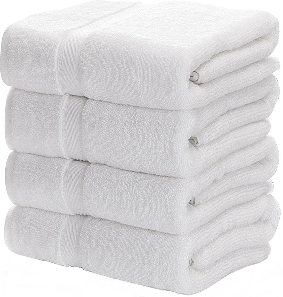 <p>If you want to feel like you're staying in a glamorous hotel every time you step out of your shower, try the <span>White Classic Store Luxury Bath Towels Large</span> ($50). The product is even hypoallergenic, making it perfect for those of us with allergies or sensitive skin.</p>