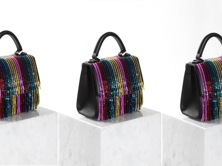 <p>When you have a sparkling rainbow bag, not even the dreariest weather can bring you down.</p>