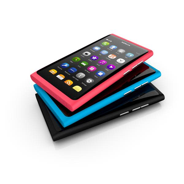 The N9 comes in three bright colours, in storage options of 16GB and 64GB. It has a 1GHz processor and a 8- megapixel camera.