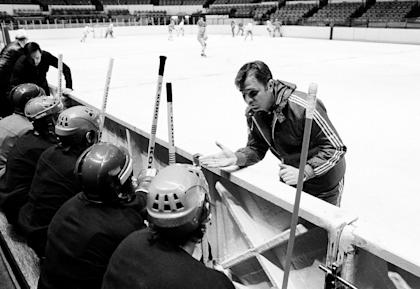 Tikhonov was a hockey pioneer whose teams won three Olympic golds and eight world championships. (AP)