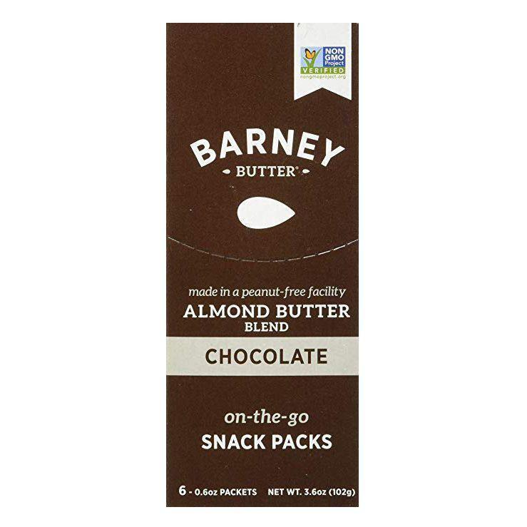 """<p><strong>Barney Butter</strong></p><p>amazon.com</p><p><a href=""""http://www.amazon.com/dp/B07BKMWYYB/?tag=syn-yahoo-20&ascsubtag=%5Bartid%7C2139.g.36606084%5Bsrc%7Cyahoo-us"""" rel=""""nofollow noopener"""" target=""""_blank"""" data-ylk=""""slk:Shop Now"""" class=""""link rapid-noclick-resp"""">Shop Now</a></p><p>An open jar of <a href=""""https://www.runnersworld.com/nutrition-weight-loss/a20838977/diy-nut-butters/"""" rel=""""nofollow noopener"""" target=""""_blank"""" data-ylk=""""slk:nut butter"""" class=""""link rapid-noclick-resp"""">nut butter</a> can be a dangerous thing when it comes to portion control. Combining two of the greatest things ever—almond butter and chocolate—these individual nut butter packs keep you to an honest 100 calories and a reasonable 2 grams of sugar. </p>"""