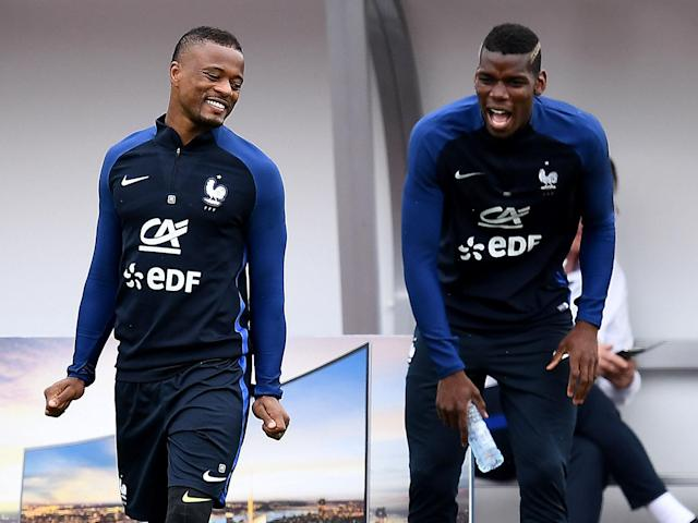Pogba and Evra are close friends off the pitch: Getty