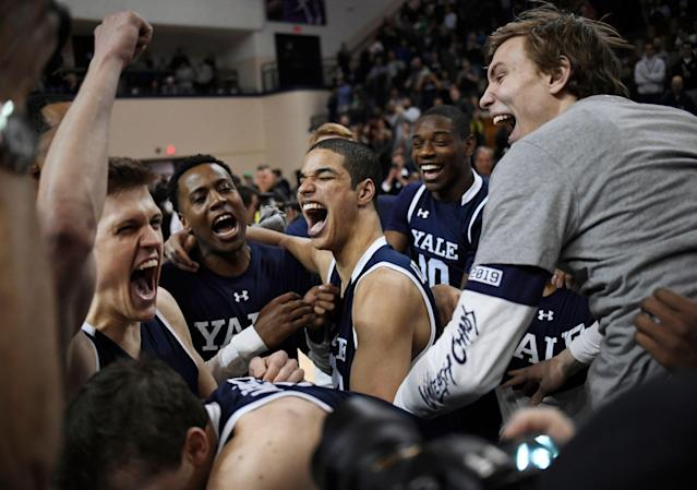 Yale knocked off Harvard for the Ivy League title, and now has more March success on its mind. (AP)