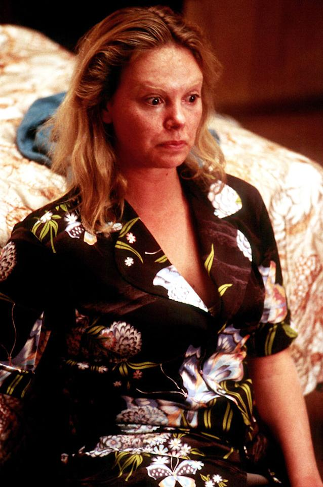 "Charlize Theron, 'Monster' (Best Actress, 2003)  Charlize Theron's Best Actress victory for ""Monster"" was far from titillating. She put on weight and underwent extensive makeup to play real-life serial killer Aileen Wuornos, who became a prostitute and murdered seven of her johns."