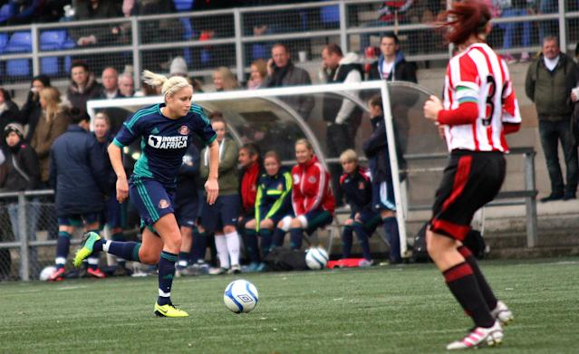 England captain Steph Houghton played for Sunderland between 2002-2007