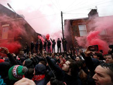 A 53-year-old Liverpool supporter was attacked by Roman hooligans outside Anfield before the first leg, leaving him hospitalised in a coma where he remains in a serious condition.