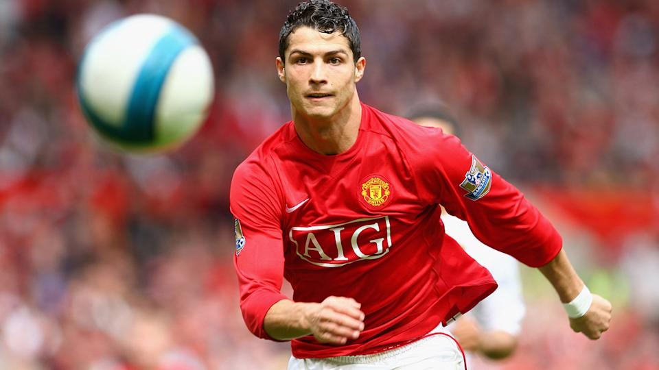 Cristiano Ronaldo, pictured here in action for Manchester United in 2008.