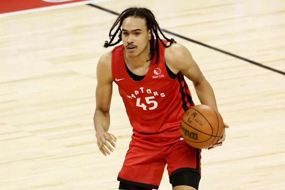 Rexdale's own Dalano Banton is the first and only player from Toronto ever drafted by the Raptors. (Getty)