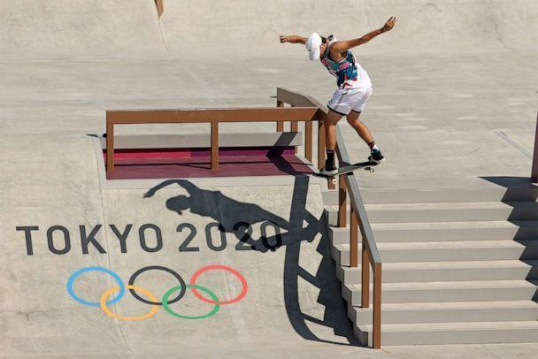 PHOTO: Jagger Eaton of Team USA competes at the Skateboarding Men's Street Prelims Heat 1 on day two of the Tokyo 2020 Olympic Games at Ariake Urban Sports Park on July 25, 2021 in Tokyo, Japan. (Ezra Shaw/Getty Images)