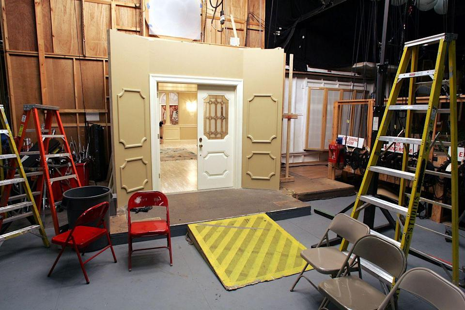 <p>That's right, Tony's home was shot in a studio. Just outside of his elegant front door was nothing more than a sound stage, filled with wooden boards and ladders.</p>
