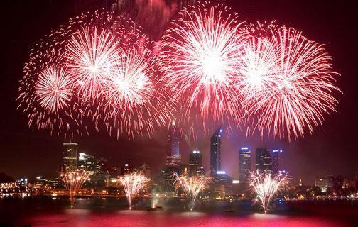 The main fireworks in Perth happen over the Swan River, so all the space down the foreshore will very popular for those wanting to see the fireworks. Source: C Restaurant