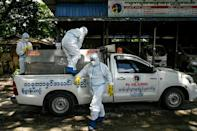 The group started providing a free taxi service for those stricken with the virus last year