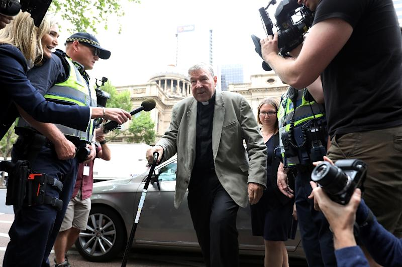 Cardinal George Pell is the most senior Catholic cleric ever convicted of child sex crimes (AFP Photo/Asanka Brendon Ratnayake)