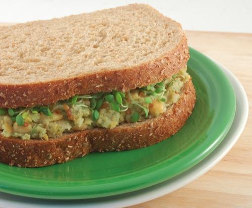 """<p>There are many tuna-less salad recipes using chickpeas, otherwise known as garbanzo beans, and loaded with protein and key nutrients. <a rel=""""nofollow noopener"""" href=""""https://yamchops.com/product/tuna-less-tuna-sandwich-box/"""" target=""""_blank"""" data-ylk=""""slk:Yamchops"""" class=""""link rapid-noclick-resp"""">Yamchops</a>, a veggie butcher shop in Toronto, sells their own version of this fishless delicacy called tuna-less tuna. Or create your own with <a rel=""""nofollow noopener"""" href=""""https://happyherbivore.com/recipe/mock-tuna-salad/"""" target=""""_blank"""" data-ylk=""""slk:Happy Herbivore"""" class=""""link rapid-noclick-resp"""">Happy Herbivore</a>'s mock tuna salad recipe loaded with protein, is easy to make, and tastes great. Either way, you will be contributing to your health and ocean conservation. <i>(Photo via <a rel=""""nofollow noopener"""" href=""""https://happyherbivore.com/recipe/mock-tuna-salad/"""" target=""""_blank"""" data-ylk=""""slk:Happy Herbivore"""" class=""""link rapid-noclick-resp"""">Happy Herbivore</a>)</i> </p>"""