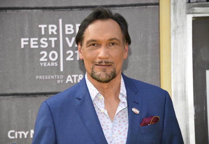 """Actor Jimmy Smits attends the 2021 Tribeca Film Festival opening night premiere of """"In the Heights"""" at the United Palace theater on Wednesday, June 9, 2021, in New York. (Photo by Evan Agostini/Invision/AP)"""