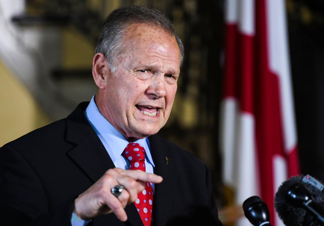 """LGBT have an agenda,"" according to Roy Moore. (Photo: ASSOCIATED PRESS)"