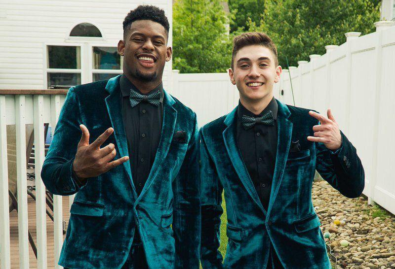 A Pittsburgh-area high school senior needed a date to his senior prom. So, Pittsburgh Steelers wide receiver JuJu Smith-Schuster tagged along.(Twitter/JuJu Smith-Schuster)
