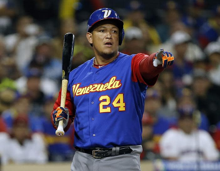 If Venezuela rallies to advance, it be forced to play on without Miguel Cabrera. (AP)