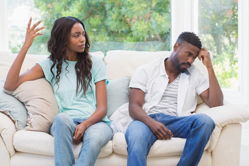 """You can pretend to settle an argument with your spouse just to make it go away, but that is only going to make things worse. Why? """"Holding resentment is the quickest way to destroy love,"""" says California-based psychotherapist <strong><a href=""""https://www.tinatessina.com/"""" rel=""""nofollow noopener"""" target=""""_blank"""" data-ylk=""""slk:Tina Tessina"""" class=""""link rapid-noclick-resp"""">Tina Tessina</a></strong>, PhD. """"Resentment is like the rust that eats away at the bonds of your relationship."""" If you don't resolve the underlying issues that are causing your resentment and anger, then your relationship will inevitably be worn down to the point of no return."""