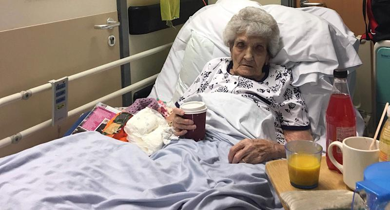 Enid Stevens, 93, was left in a trolley for six days (Picture: SWNS)