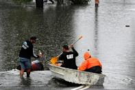Rescue boats -- including Surf Lifesaving vessels usually reserved for beaches -- are also being used to extract stranded residents from floodwaters