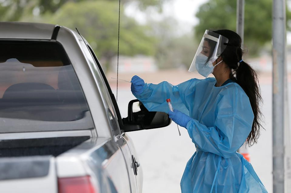 Coronavirus testing sites across El Paso, Texas, have seen a steady decline in visitors. The once-packed sites are now seeing a fraction of the traffic.