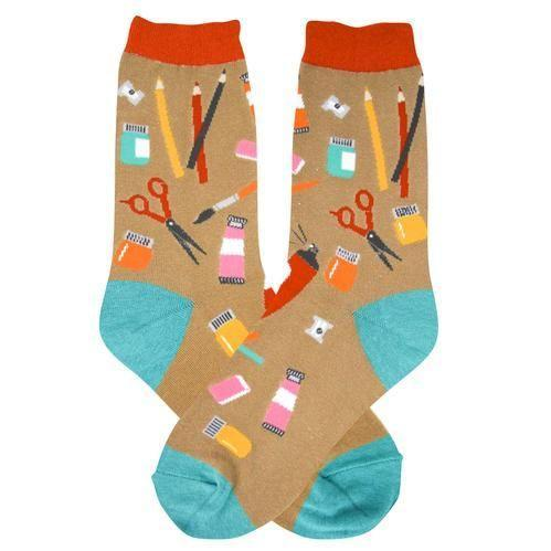 "<p><strong>Foot Traffic</strong></p><p>sockologie.com</p><p><strong>$9.00</strong></p><p><a href=""https://sockologie.com/products/artist-womens-crew-socks-foot-traffic"" rel=""nofollow noopener"" target=""_blank"" data-ylk=""slk:Shop Now"" class=""link rapid-noclick-resp"">Shop Now</a></p><p>Now they can show off their love of art from their head to their toes!</p>"