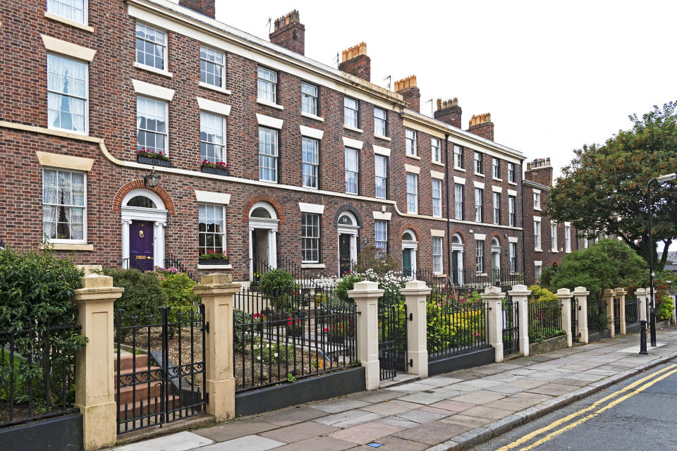 Georgian Town House In The Georhgian Quarter, Liverpool, England, Britain, Uk. (Photo by: Education Images/Universal Images Group via Getty Images)