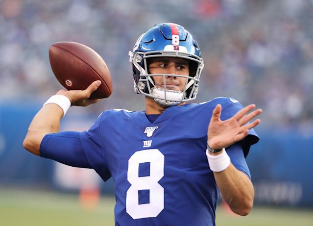New York Giants rookie QB Daniel Jones looked sharp in his NFL preseason debut vs. the New York Jets. (Getty Images)
