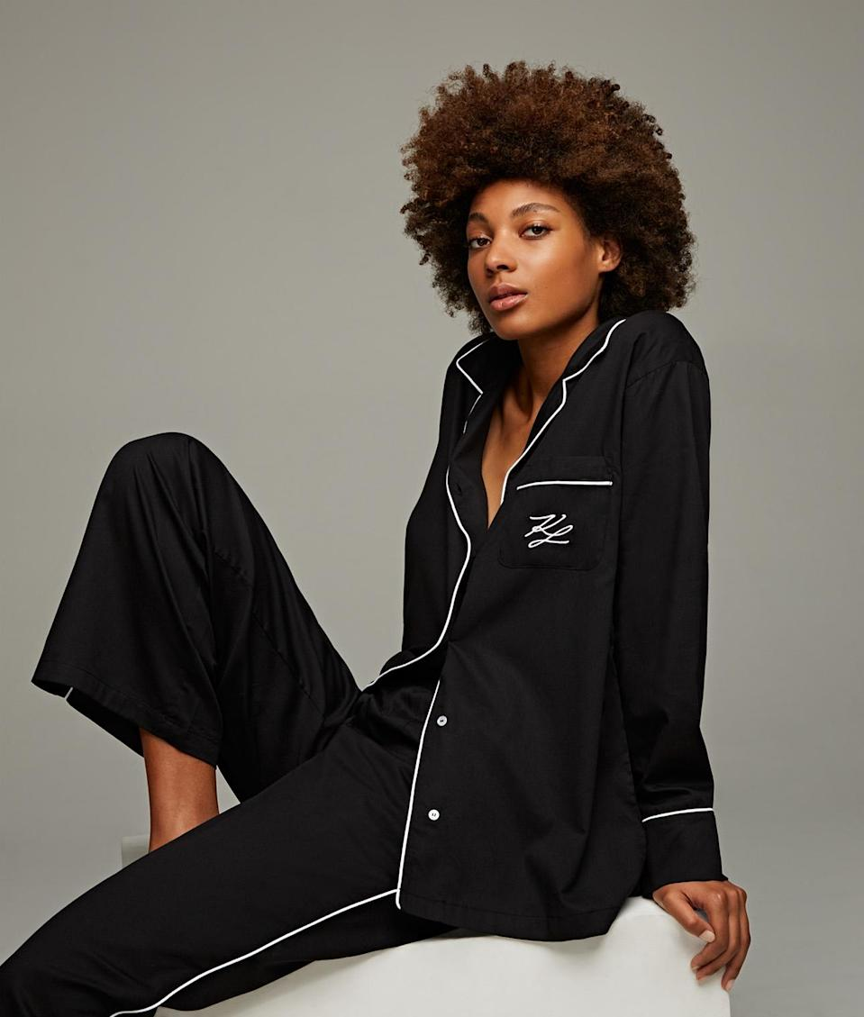 A look from Karl Lagerfeld's loungewear collection.