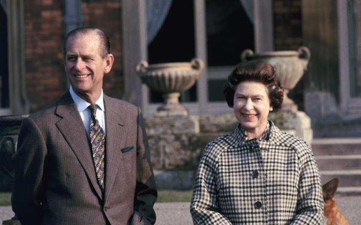 Queen Elizabeth II and Prince Philip, Duke of Edinburgh, celebrating 30 years reign while visiting Balmoral, Scotland, 6th February 1982 - Hulton Royals Collection