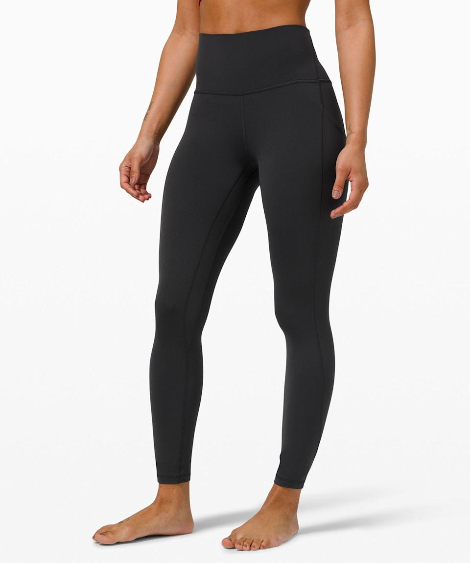 """<p><strong>Align High Rise Pant with Pockets</strong></p><p>lululemon.com</p><p><strong>$128.00</strong></p><p><a href=""""https://go.redirectingat.com?id=74968X1596630&url=https%3A%2F%2Fshop.lululemon.com%2Fp%2Fwomens-leggings%2FAlign-HighRise-Tight-25-Pockets%2F_%2Fprod10370071&sref=https%3A%2F%2Fwww.prevention.com%2Ffitness%2Fworkout-clothes-gear%2Fg36840253%2Fbest-athleisure-brands%2F"""" rel=""""nofollow noopener"""" target=""""_blank"""" data-ylk=""""slk:Shop Now"""" class=""""link rapid-noclick-resp"""">Shop Now</a></p><p>If there was ever a brand that challenged the difference between leggings and pants, it's <strong><a href=""""https://go.redirectingat.com?id=74968X1596630&url=https%3A%2F%2Fshop.lululemon.com%2F&sref=https%3A%2F%2Fwww.prevention.com%2Ffitness%2Fworkout-clothes-gear%2Fg36840253%2Fbest-athleisure-brands%2F"""" rel=""""nofollow noopener"""" target=""""_blank"""" data-ylk=""""slk:Lululemon"""" class=""""link rapid-noclick-resp"""">Lululemon</a></strong>. There's a reason that athleisure is oftentimes synonymous with the company. We love the <a href=""""https://go.redirectingat.com?id=74968X1596630&url=https%3A%2F%2Fshop.lululemon.com%2Fp%2Fwomens-leggings%2FAlign-HighRise-Tight-25-Pockets%2F_%2Fprod10370071%3Fcolor%3D47821&sref=https%3A%2F%2Fwww.prevention.com%2Ffitness%2Fworkout-clothes-gear%2Fg36840253%2Fbest-athleisure-brands%2F"""" rel=""""nofollow noopener"""" target=""""_blank"""" data-ylk=""""slk:Align High Rise Tight"""" class=""""link rapid-noclick-resp"""">Align High Rise Tight</a> with the added benefit of pockets, buttery fabric, unique colorways, and lengthening effect. Bonus: Tailoring comes for free with any clothing purchase—just let the store know what doesn't fit and they'll make the requisite changes for you to pick up within a few days time.</p>"""