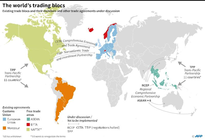 World trade agreements (AFP Photo/)