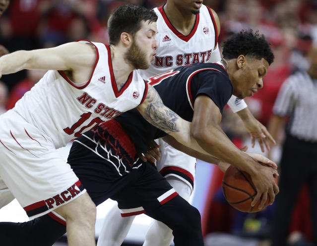 Louisville is now in real bubble trouble after its loss at NC State on Saturday. (AP)